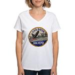 USS BACHE Women's V-Neck T-Shirt