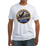 USS BACHE Fitted T-Shirt