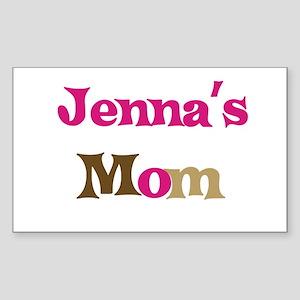Jenna's Mom Rectangle Sticker