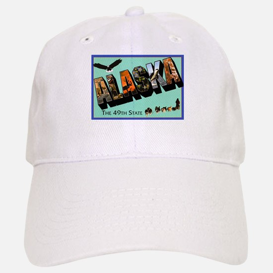 Alaska State Greetings Baseball Baseball Cap