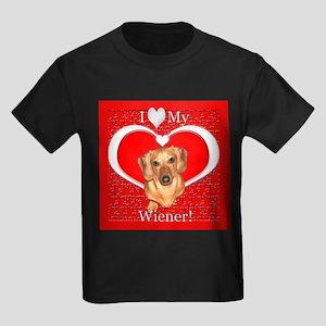 Love My Wiener Kids Dark T-Shirt