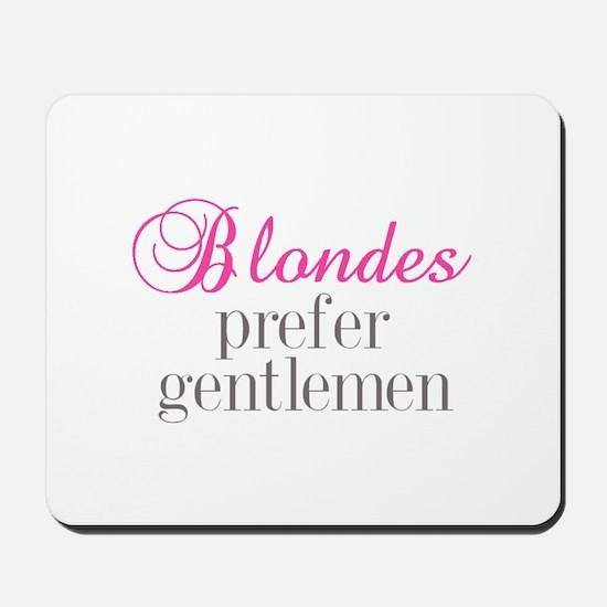 Blondes Mousepad
