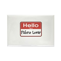 Fabric Lover Nametag Rectangle Magnet (10 pack)