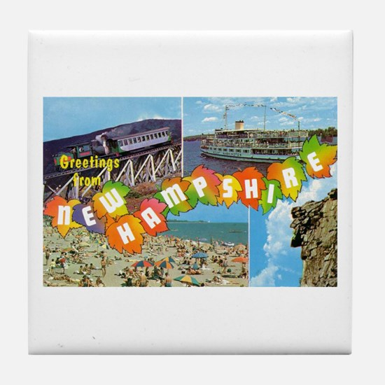 New Hampshire Greetings Tile Coaster