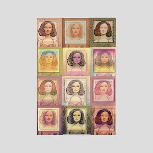"Daphne ""Pop Art"" ~ Rectangle Magnet (warm)"