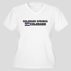 Colorado Springs Women's Plus Size V-Neck T-Shirt