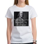 Benjamin Franklin Quote 1 Women's T-Shirt