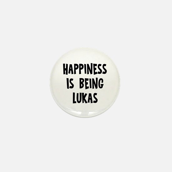 Happiness is being Lukas Mini Button