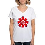 Clockwork Red Women's V-Neck T-Shirt