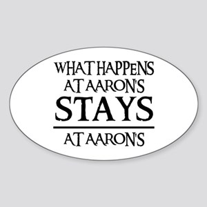 STAYS AT AARON'S Oval Sticker