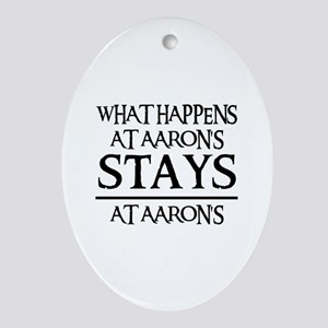 STAYS AT AARON'S Oval Ornament