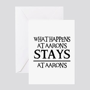 STAYS AT AARON'S Greeting Card