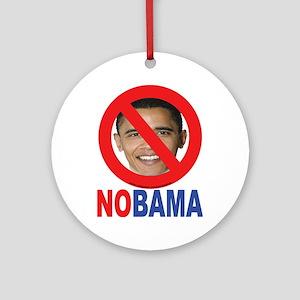 NO OBAMA Ornament (Round)