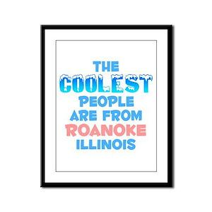 Coolest: Roanoke, IL Framed Panel Print