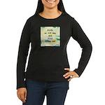 Study an Old Map Women's Long Sleeve Dark T-Shirt