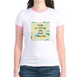 Study an Old Map Jr. Ringer T-Shirt