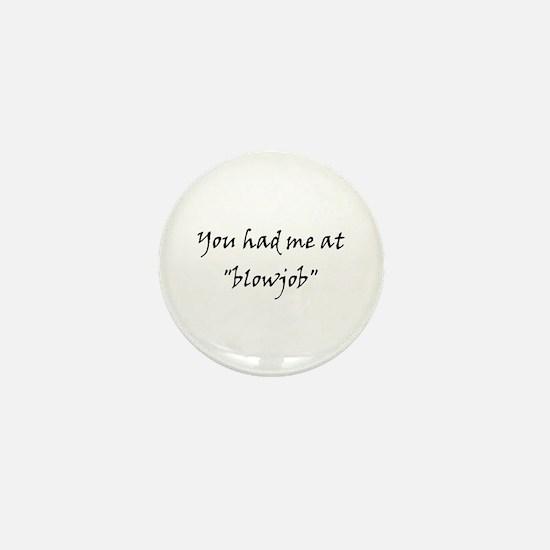 Blowjob Mini Button
