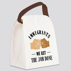 Immigrants Get The Job Done Diver Canvas Lunch Bag