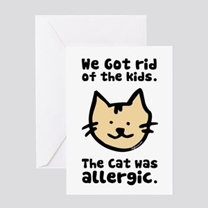 Kept the Cat Greeting Card