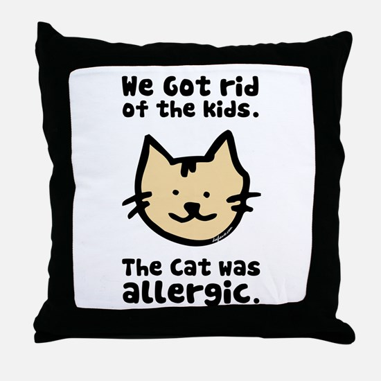 Kept the Cat Throw Pillow
