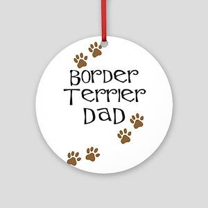 Border Terrier Dad Ornament (Round)