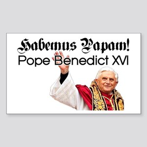 Habemus Papam! Rectangle Sticker