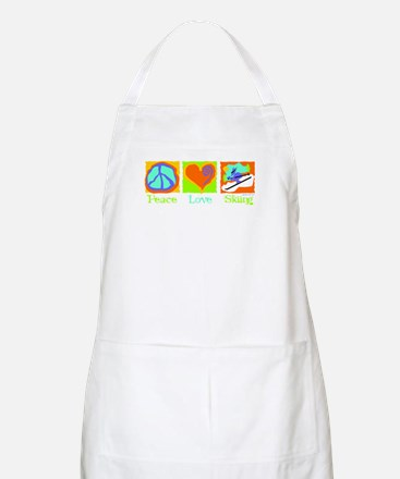 Peace Love Skiing BBQ Apron