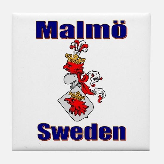 Malmö Sweden Tile Coaster