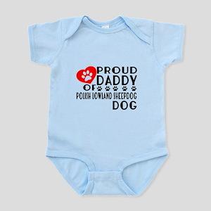 Proud Daddy Of Polish Lowland Baby Light Bodysuit