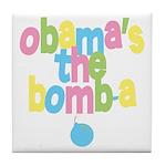 Obama's the Bomba Tile Coaster