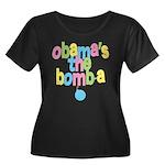 Obama's the Bomba Women's Plus Size Scoop Neck Dar