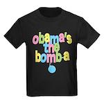 Obama's the Bomba Kids Dark T-Shirt