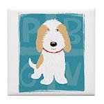 Tan & White PBGV Tile Coaster