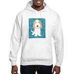 Tan & White PBGV Hooded Sweatshirt