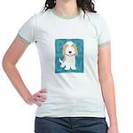 Tan & White PBGV Jr. Ringer T-Shirt
