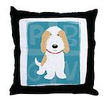 Tan & White PBGV Throw Pillow