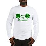 Kiss my Shamrocks Long Sleeve T-Shirt
