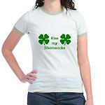 Kiss my Shamrocks Jr. Ringer T-Shirt