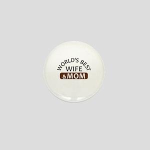 World's Best Wife & Mom Mini Button