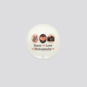 Peace Love Photography Camera Mini Button