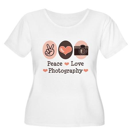 Peace Love Photography Camera Women's Plus Size Sc