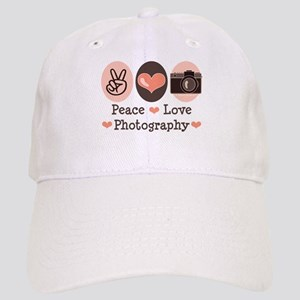 Peace Love Photography Camera Cap