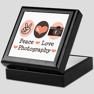 Peace Love Photography Camera Keepsake Box