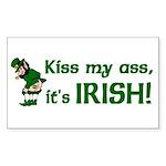 Kiss my Ass it's Irish Rectangle Sticker