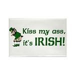 Kiss my Ass it's Irish Rectangle Magnet (10 pack)