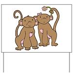 Cute Monkey Couple Yard Sign