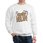 Cute Monkey Couple Sweatshirt
