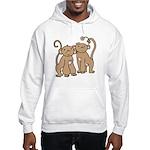 Cute Monkey Couple Hooded Sweatshirt