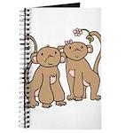 Cute Monkey Couple Journal