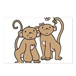 Cute Monkey Couple Postcards (Package of 8)